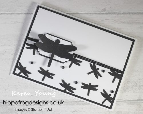 Just Black and White. Project designed by Karen at HIPPOFROG Designs