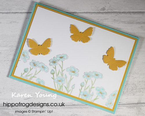 Quiet Meadow Bundle Butterflies. Project designed by Karen at HIPPOFROG Designs