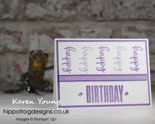 Gorgeous Grape Biggest Wish. Project designed by Karen at HIPPOFROG Designs