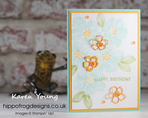 Top Tips, Tricks & Techniques: Being Frugal With Your Cardstock. Project designed by Karen at HIPPOFROG Designs