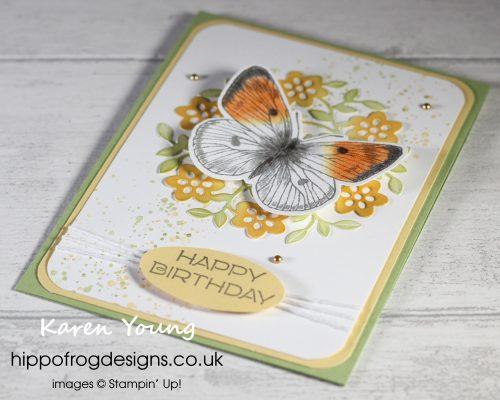 Orange-tip butterfly inspiration. Project designed by Karen at HIPPOFROG Designs