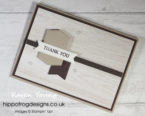 Very Tasteful Thank You. Project designed by Karen at HIPPOFROG Designs