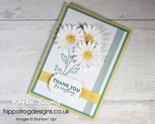 Hybrid Daisies. Project designed by Karen at HIPPOFROG Designs