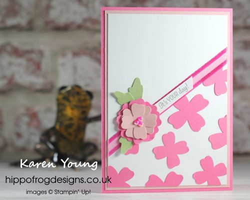 Introduction to In Color Class - Polished Pink. Project designed by Karen at HIPPOFROG Designs