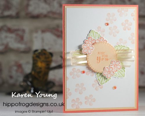 Calypso Coral Strawberry Flowers. Project designed by Karen @HIPPOFROG Designs