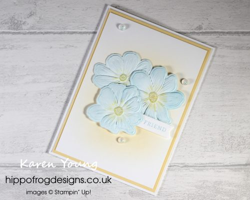 Less Is More With Art In Bloom Bundle. Project designed by Karen at HIPPOFROG Designs