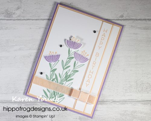Celebrate with Flowers - Project 3. Project designed by Karen at HIPPOFROG Designs