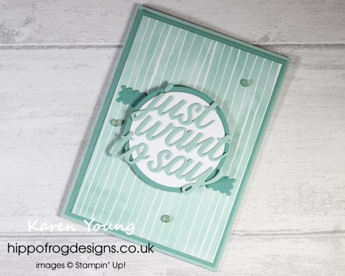 A No Stamping Project. Project designed by Karen at HIPPOFROG Designs