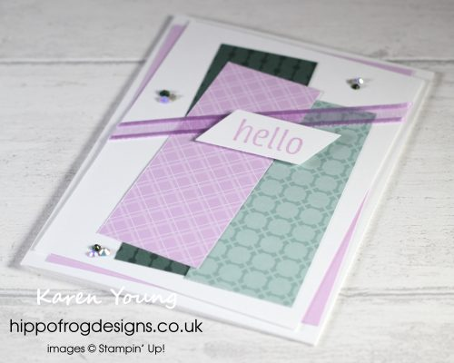 Top Tips, Tricks & Techniques: Working With Angles. Project designed by Karen at HIPPOFROG Designs