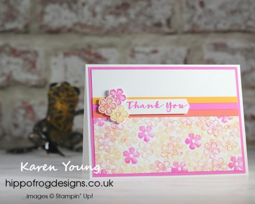 Summery Sweet Strawberry. Project designed by Karen at HIPPOFROG Designs