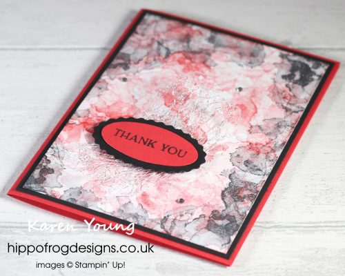 A Theatrical Thank You. Project designed by Karen at HIPPOFROG Designs
