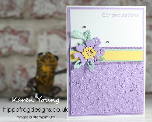 Highland Heather Florals. Project designed by Karen at HIPPOFROG Designs
