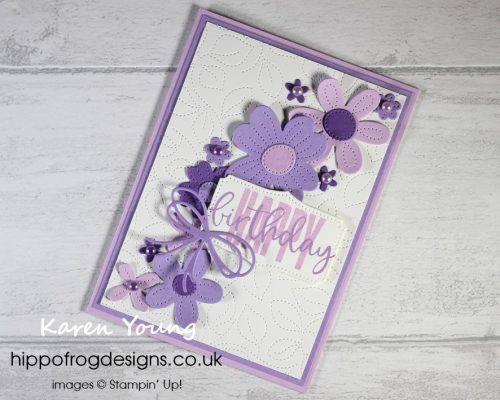 Purple Pierced Blooms. Project designed by Karen at HIPPOFROG Designs