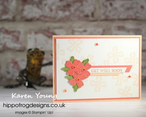 Get Well Flowers. Project designed by Karen at HIPPOFROG Designs