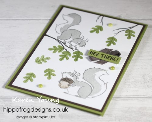 Top Tips, Tricks & Techniques: Two-Step Stamping. Project designed by Karen at HIPPOFROG Designs