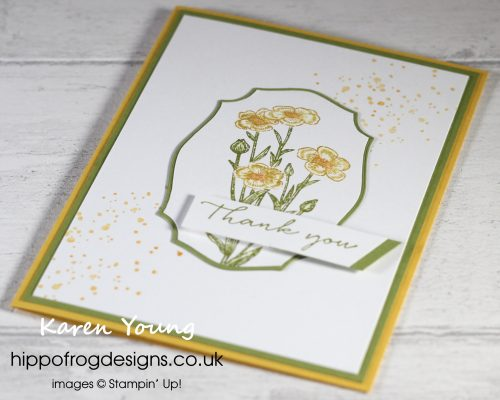 Top Tips, Tricks & Techniques: Inking Stamps Using Stampin' Write Markers. Project designed by Karen at HIPPOFROG Designs