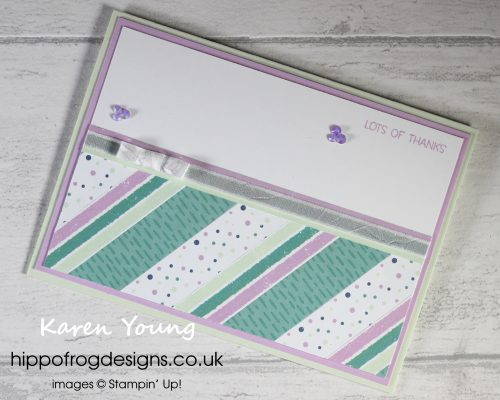 Top Tips, Tricks & Techniques: Looking at both sides of your DSP. Project designed by Karen at HIPPOFROG Designs