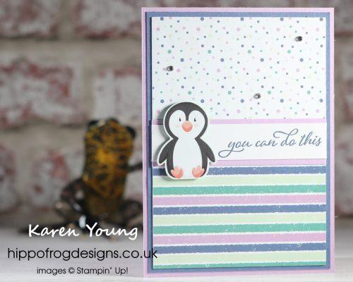 Penguin of Positivity. Project designed by Karen at HIPPOFROG Designs