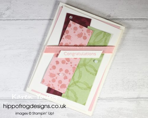 Top Tips, Tricks & Techniques: Tone on Tone Stamping. Project designed by Karen at HIPPOFROG Designs