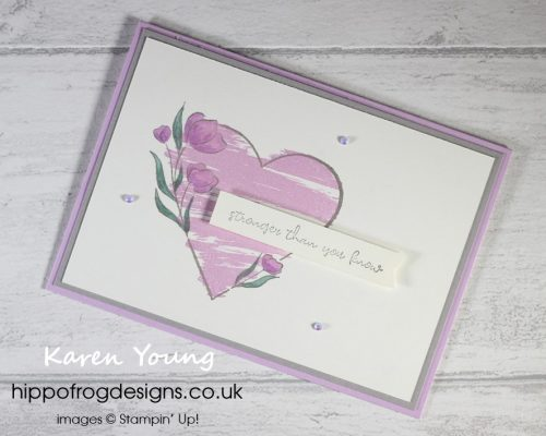 Strong of Heart. Project designed by Karen at HIPPOFROG Designs