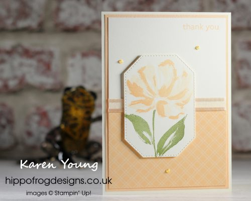 Customer Thank You in Pale Papaya. Project designed by Karen at HIPPOFROG Designs