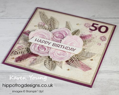 A Fabulous 50th. Project designed by Karen at HIPPOFROG Designs