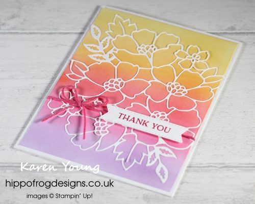 Top Tips, Tricks & Techniques: Using Blending Brushes. Project designed by Karen at HIPPOFROG Designs
