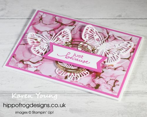 Magenta Madness Just Because. Project designed by Karen at HIPPOFROG Designs