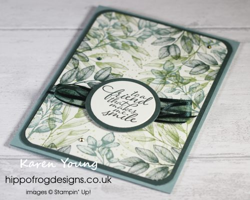Top Tips, Tricks & Techniques: Random Stamping. Project designed by Karen at HIPPOFROG Designs