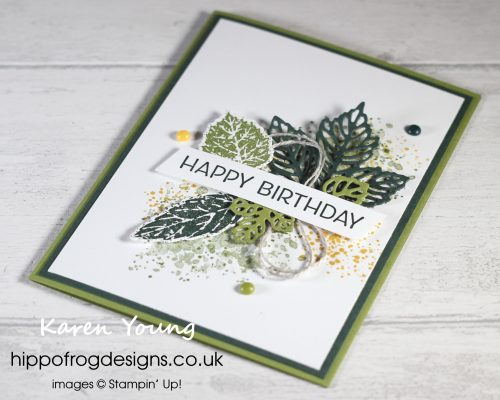 Top Tips, Tricks & Techniques: Stampin' Up! Bundles & Product Suites. Project designed by Karen at HIPPOFROG Designs