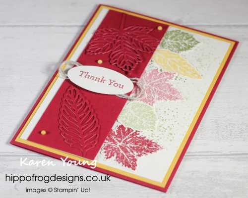 SSOTM with Gorgeous Leaves - Project 2. Project designed by Karen at HIPPFROG Designs