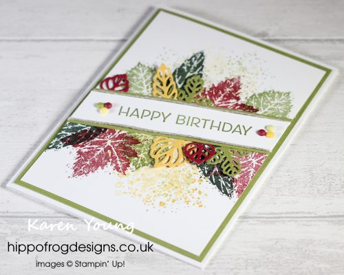 SSOTM with Gorgeous Leaves - Project 3. Project designed by Karen at HIPPFROG Designs