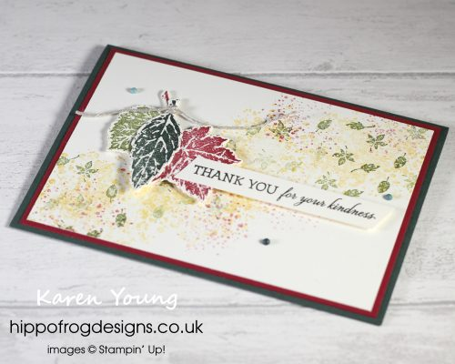 SSOTM with Gorgeous Leaves - Project 4. Project designed by Karen at HIPPFROG Designs