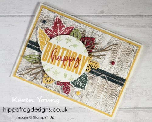 SSOTM with Gorgeous Leaves - Project 5. Project designed by Karen at HIPPFROG Designs