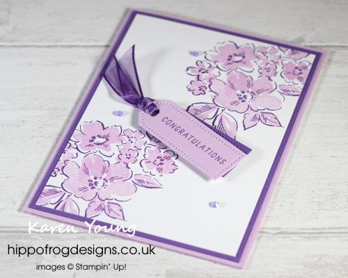 Team Congratulations in Purple. Project designed by Karen at HIPPOFROG Designs