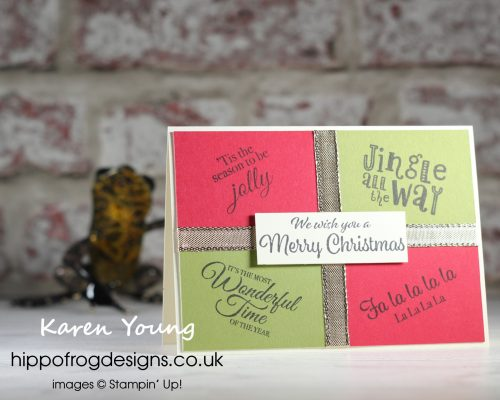 Countdown to Christmas 2021 #2. Project designed by Karen at HIPPOFROG Designs