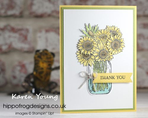 Say it with Sunflowers. Project designed by Karen at HIPPOFROG Designs