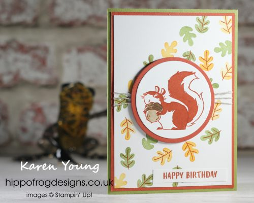 Autumnal Squirrel. Project designed by Karen at HIPPOFROG Designs