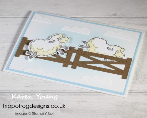 Counting Sheep & Matching Dies. Project designed by Karen at HIPPOFROG Designs
