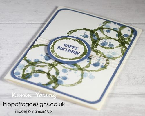 SAB Birthday Circles. Project designed by Karen at HIPPOFROG Designs
