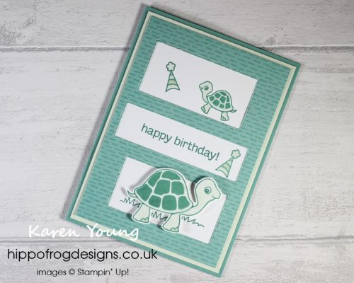 Turtle Friends with Penguin Playmates DSP. Project designed by Karen at HIPPOFROG Designs